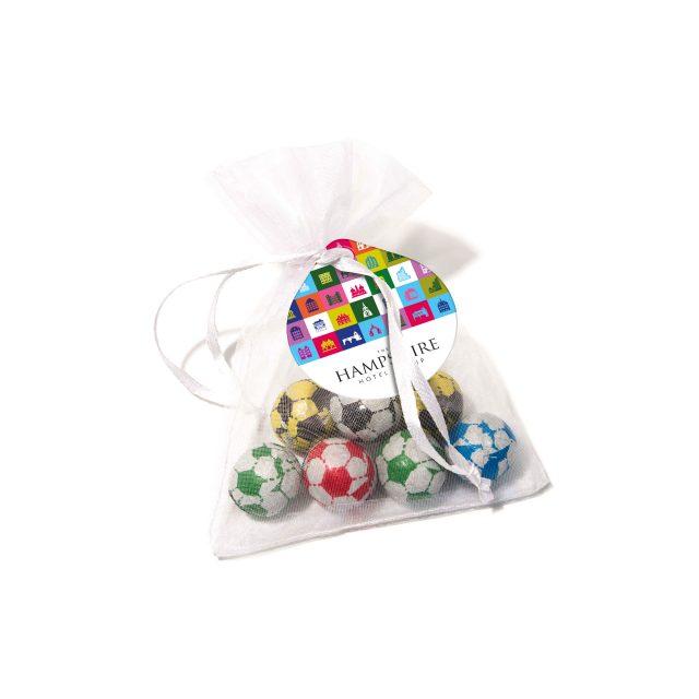 Organza Bag – Chocolate Footballs