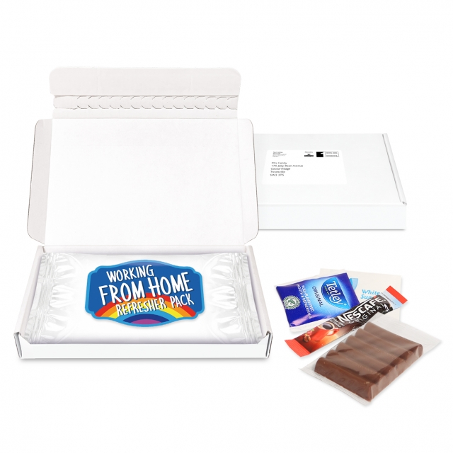 Gift Boxes – Mini White Postal Box – Large Refresher Pack – PAPER LABEL