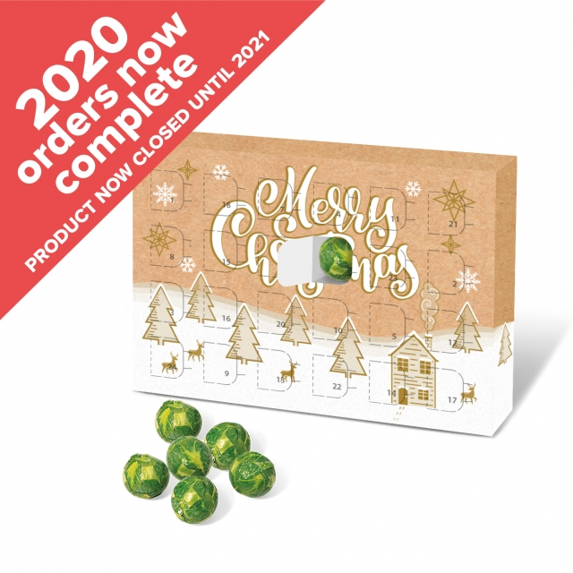 Eco Advent Calendars – A5 Calendar – Chocolate Sprouts